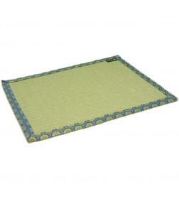 Mantel de tatami azul-verde